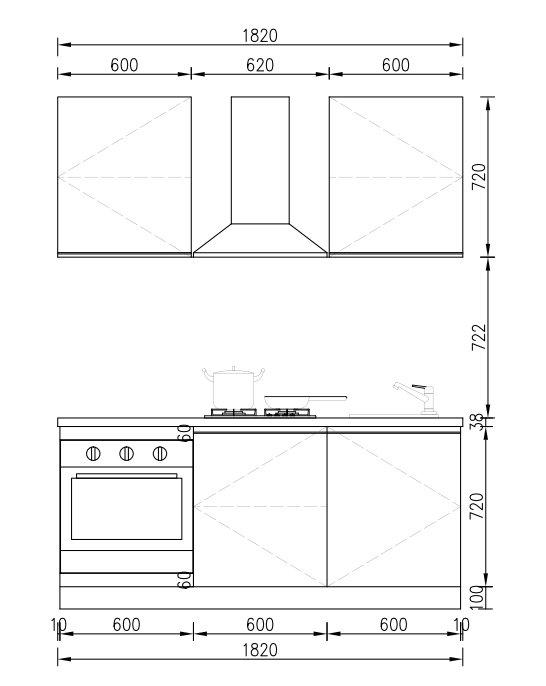 KP RTA (RTG) Gabinete de cocina para proyectos Proyecto de gabinete - 20