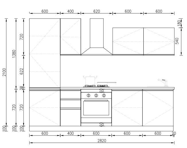 KP RTA (RTG) Gabinete de cocina para proyectos Proyecto de gabinete - 24