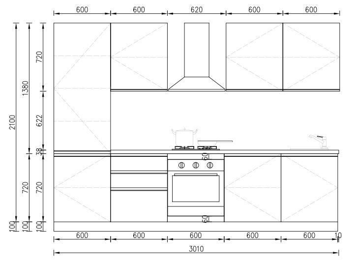 KP RTA (RTG) Gabinete de cocina para proyectos Proyecto de gabinete - 28