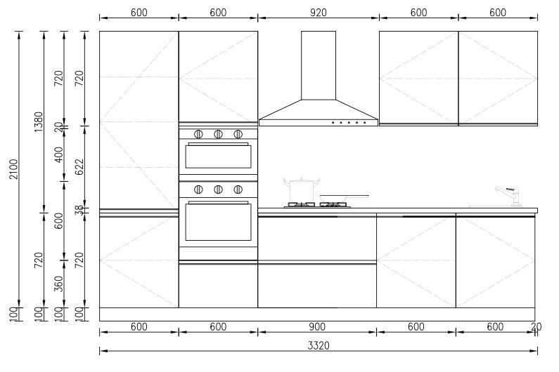 KP RTA (RTG) Gabinete de cocina para proyectos Proyecto de gabinete - 31