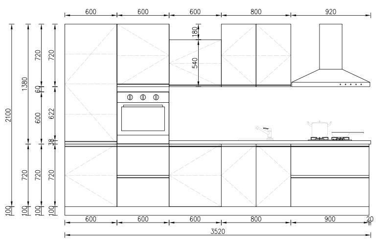 KP RTA (RTG) Gabinete de cocina para proyectos Proyecto de gabinete - 35