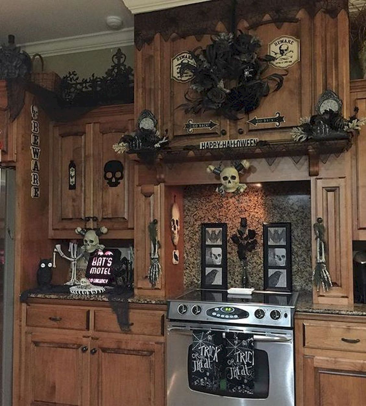 """Decorate your cabinets for a """"scary"""" Halloween! Cabinet Project - 2"""