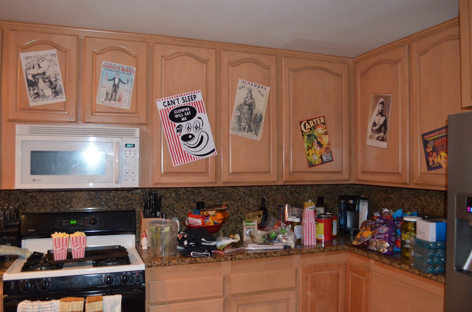 """Decorate your cabinets for a """"scary"""" Halloween! Cabinet Project - 4"""