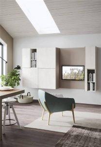 White Woodmark Flat-Front Custom Kitchen Cabinet Mixing Door Styles KP-KC-0001 Cabinet Project - 8